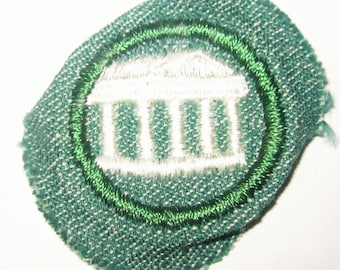 "Vintage Girl Scout Intermediate Badge ""Architecture"" circa late 1940's"