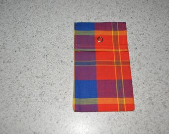 POUCH PATTERN MADRAS WITH PRESSURE 10 X 16 CM