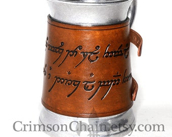 Tolkien-Inspired Mugs - The One Mug - by Crimson Chain leatherworks - SCA Larp Renactment Garb Costume