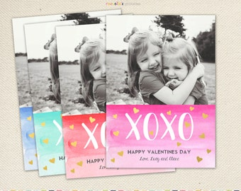 Valentines photo card printable valentines day baby card