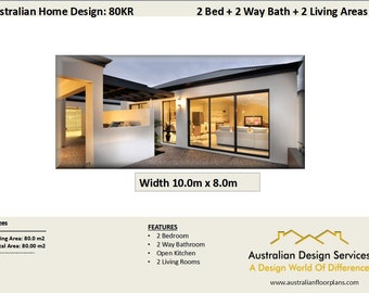 80 m2   bedroom extension | 2 bed granny flat |  renovations plan |  House Plans For Sale