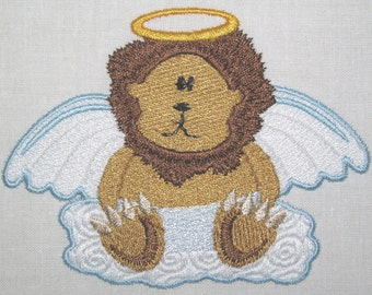 Machine Embroidery Design-Filled Design-Animal Angel-Lion