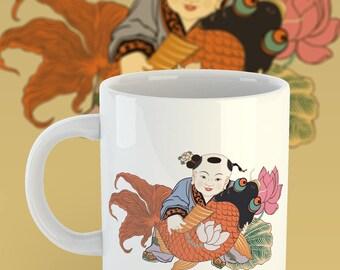 Coffee Mug of Chinese New Year Painting, 11oz