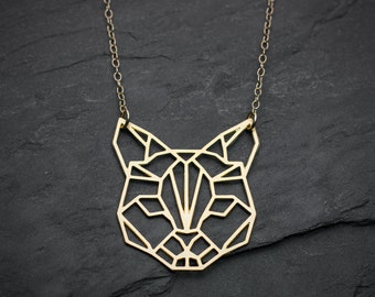 Chat collier chat amoureux cadeau collier géométrique origami collier chat cadeau minimaliste bijoux origami bijoux chat bijoux origami minimaliste