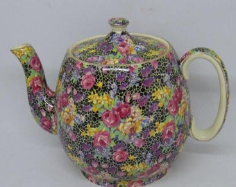RARE! Royal Winton Hazel Chintz Large Teapot Tea Pot Countess Shape slight a/f