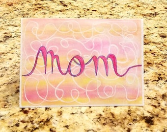 Handpainted Mother's Day Card