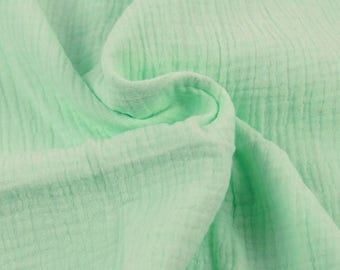 Double cotton gauze / MINT / cut 25cm