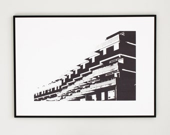 screen print art - limited edition print - London print - 50 x 70 cm poster - architectural art