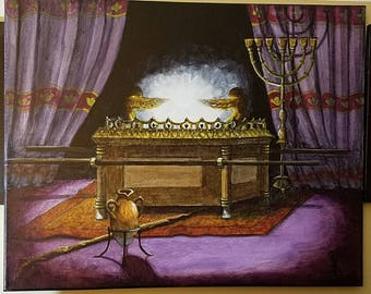 """Bible images, Ark of the Covenant, """"The Mercy Seat"""" religious relics, religious artwork,"""