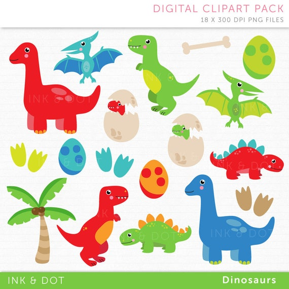 dinosaur clipart cute dinosaurs pterodactyl dino rh etsy com Cute Baby Cartoon Dinosaurs Cute Cartoon Dinosaur Clip Art