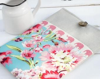Macbook Case,  Macbook Pro Sleeve, Elephant Hawaiian Flower 13 Macbook Air Case,  Laptop Case, Pink Laptop Accessories, 12 Macbook Case