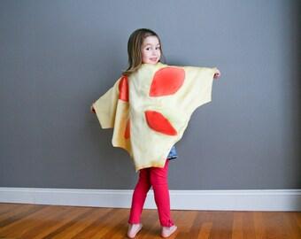 Fait à la main Cape papillon Costume Halloween Photo Prop jaune pour enfant enfant enfants