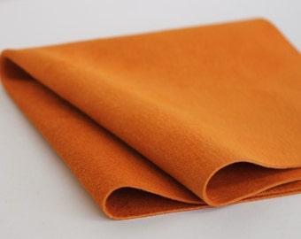 Orange Suede Genuine Leather
