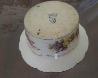 Vintage antique Dresden porcelain gravy boat citolina second half 800