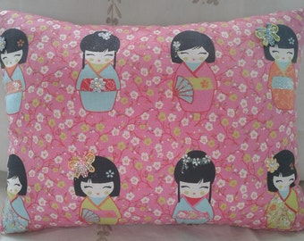 Pink Japanese Doll Cushion