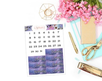 Galaxy Blogger Collection Date Covers || 130+ Planner Stickers