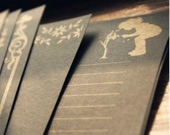 8 Sheets Kraft Paper Letter Writing Paper Sets-European lace