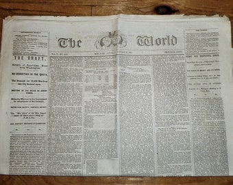 Letter From Jeff Davis Appointing Robert E Lee as General in Chief - The World January 28, 1865 FREE Domestic Shipping
