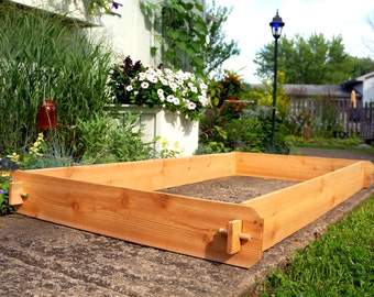 Cedar RAISED GARDEN BED 3x6 Cedar Raised Planter Vegetable Bed Vegetable Garden Outdoor Planter Large Planter Flower Box Herb Garden Sandbox