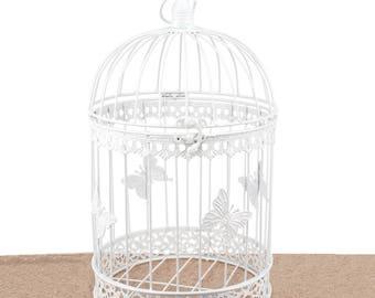 Wishing Well Bird Cage Wedding White Birdcage Cards Box Round Reception Decorations Supplies