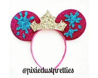 Aurora Mouse Ears, Sleeping Beauty, sleeping Beauty mouse ears, minnie ears, mouse ears, mickey ears, Aurora, pink mouse ears, blue mouse