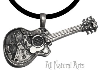 Watch Parts Guitar in solid 925 Sterling Silver
