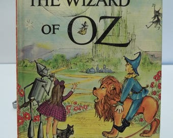 Vintage 1963 Companion Library The Wizard of Oz and The Jungle Book 2 Books in 1