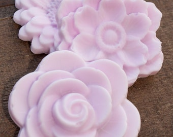 10 Rose Soap Favors (30 Soaps Total), Baby or Bridal Shower Favors, Birthday Party Favors