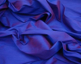 Purple two tone Shantung Dupioni Faux Silk fabric per yard