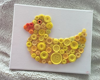 Rubber Ducky Button Art