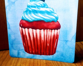 Original Cupcake greeting card - handmade 15cm x 15cm