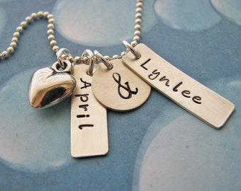 custom tag ampersand necklace