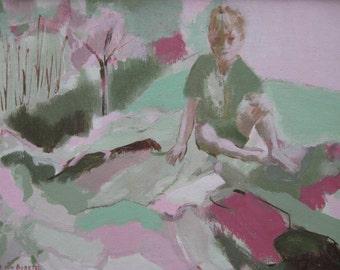 Boy On Hillside - Limited Edition Giclee Print