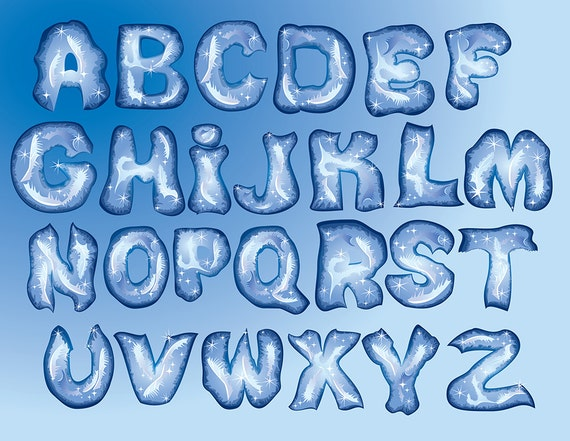 Frozen alphabet png digital clipart winter ice fonts abc clip thecheapjerseys Choice Image