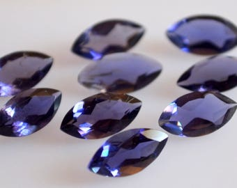 Natural Blue Iolite marquise cut faceted 5x10  loose gemstone -high quality gemstone