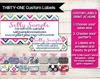 THIRTY-ONE | Catalog Labels | Stickers | Catalog Label | Order Form Label | Contact Card | Custom | Print at Home | Avery Label | Template