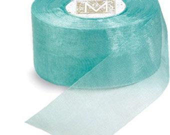 "Midori Organdy Ribbon 3/4"" Color Robins Egg Blue"