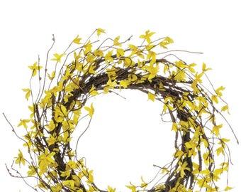 """Forsythia Wreath 22"""""""