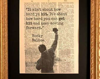 Rocky Balboa how hard you can get hit quote Dictionary print