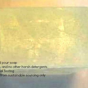Organic Oil based Clear Melt and Pour soap base 1 lb Wrapped