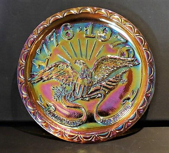 1976 Bicentennial Carnival Glass Plate