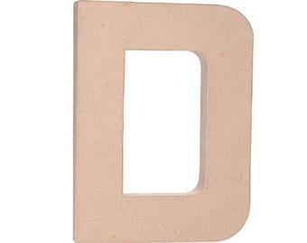 Paper Mache Letter -D - 12 inches,Unfinished Mache, Embellishment Letter,Cardboard letter, Alphabet Décor