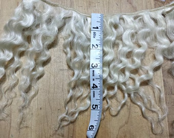 Mohair weft doll hair - Platinum Blonde