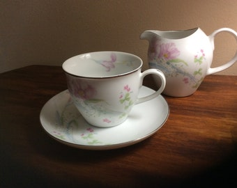 Couture Tea Cup and Creamer