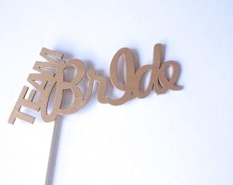 Wooden Photobooth Prop, Team Bride, Word Art, wedding props, photo booth, wedding photo booth props, party props, wood props