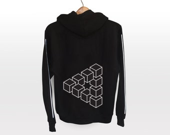 Hoodie Jacket- light reflective silver print | design your own