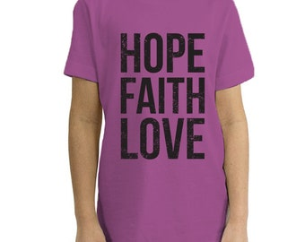 Hope, Faith, Love - Organic Youth Short Sleeve
