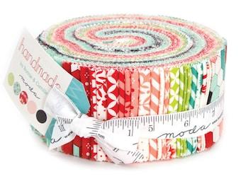 "Moda HANDMADE Jelly Roll 55140JR Quilt Fabric 40 2.5"" Strips"