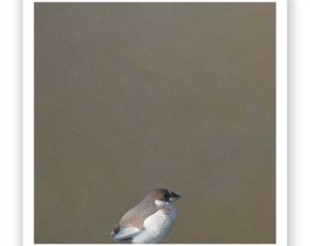 SALE! Extant And Loving It - 12 x 12 Art Print - Giclee -  Bird