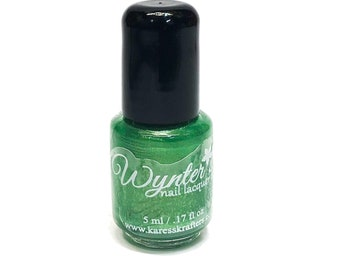 Green Patch Nail Polish - Vegan Nail Polish - Cruelty Free Indie Nail Polish - Paraben Free - Blue Nail Polish /Nail Varnish 5 ML Sample